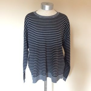Eileen Fisher merino wool striped sweater pullover